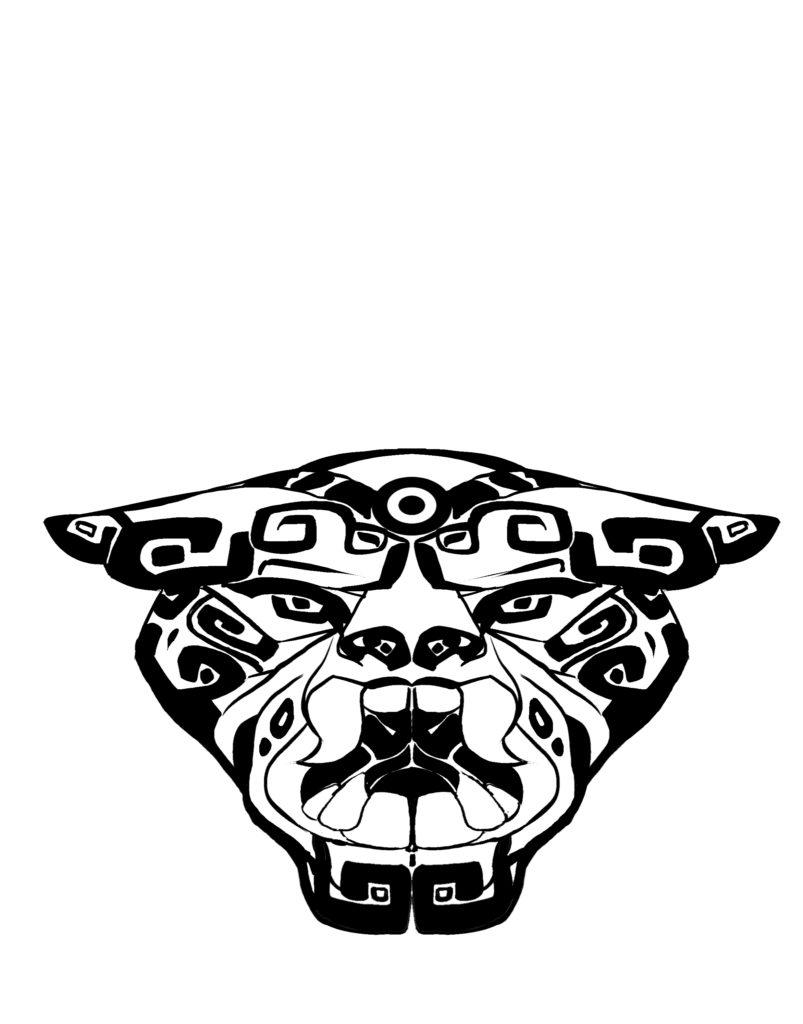 Jaguar Spirit Clown Mask copy